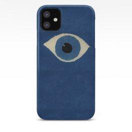 HOMEMADE BLUE EVIL EYE PATTERN iPhone Case