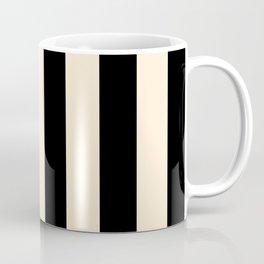Elegant Stripes - Black & Beige Coffee Mug