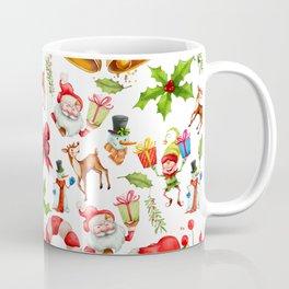 Holiday festive red green holly Christmas pattern Coffee Mug