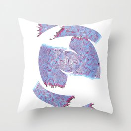 Die Seltsam (runde vier.) Throw Pillow