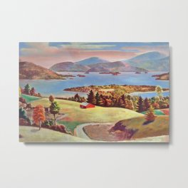 Lake George, Adirondack Mountains, New York pastoral landscape painting by Judson Smith Metal Print