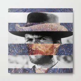 Van Gogh's Self Portrait & Clint Eastwood Metal Print