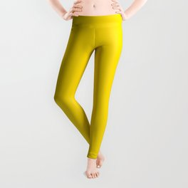 Dunn and Edwards 2019 Curated Colors Summer Sun (Bright Yellow) DE5405 Solid Color Leggings