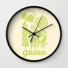 Grow in Green Wall Clock