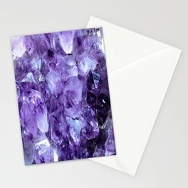 Amethyst Crystals Stationery Cards