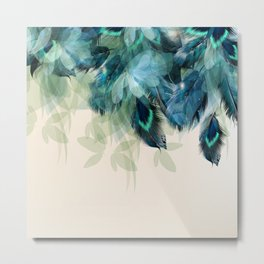 Beautiful Peacock Feathers Metal Print