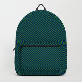 Dark green and dark blue squares Backpack