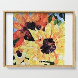 """"""" Sunflower Pair """" Serving Tray"""