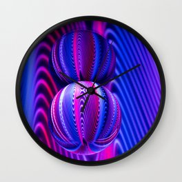 Colours in Invert Glass Ball Wall Clock