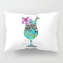 Bright Fun Colorful Cocktails - Tropical Beach Cocktail Art - Sharon Cummings Pillow Sham