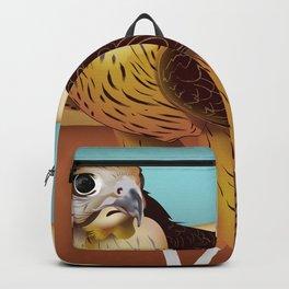 Hawk Illustration Backpack