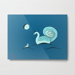 Swan time Metal Print