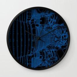 Apollo Rocket Booster - Blue Neon Wall Clock