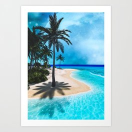 Beautiful Tropical Island Art Print