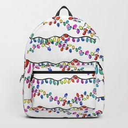 Christmas Rainbow Lights Backpack