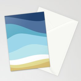 Blue Ocean Waves ! Stationery Cards
