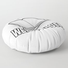 Born to continuing education motivation Floor Pillow
