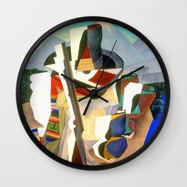 Diego Rivera Zapata Style Landscape Wall Clock