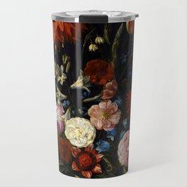 """Jan van Kessel the Elder """"Floral still life"""" Travel Mug"""