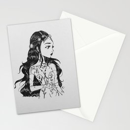 the wildflower queen (Nym) Stationery Cards