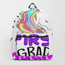 Cute First Grade Unicorn Back To School 1st Grade Girls Gift Backpack