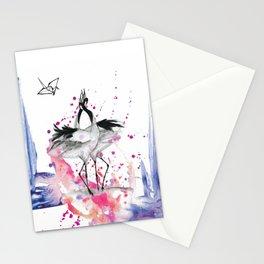 Crane dance Stationery Cards