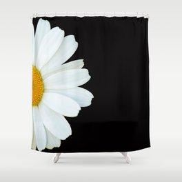 Hello Daisy - White Flower Black Background #decor #society6 #buyart Shower Curtain