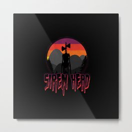 Scary Siren Head vintage sunset meme  Metal Print