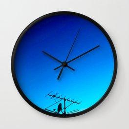 Blue Antenna Wall Clock