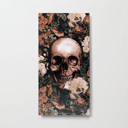 SKULL AND FLOWERS II Metal Print