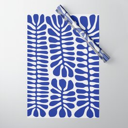 Blue seaweed hanging Wrapping Paper