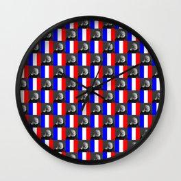 Flag and portrait: Victor Hugo Wall Clock