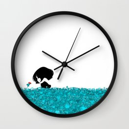 Clover and Coccinelle Wall Clock