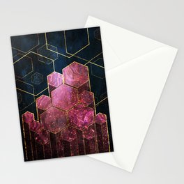 Midnight Metallic Stationery Cards