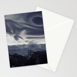 La vue des montagnes Stationery Cards
