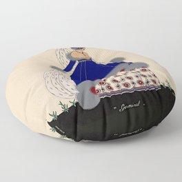 "Martha Romme Couture Design ""Germinal"" Floor Pillow"