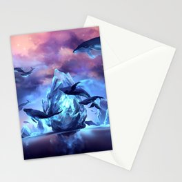 When the moon is closer Stationery Cards