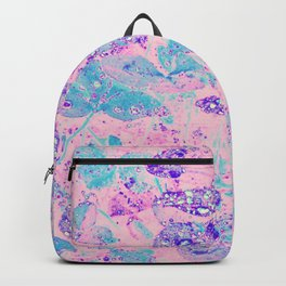 Clovers Garden With Rain Droplets Pink Backpack