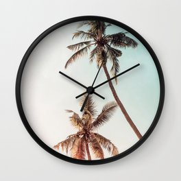 Palms Beach Summer Wall Clock
