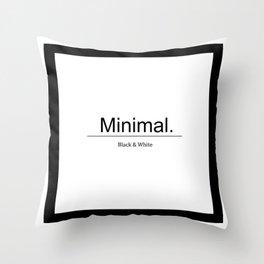 Designer Color: Black & White Throw Pillow