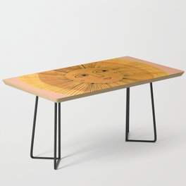 Sun Drawing Gold and Pink Coffee Table