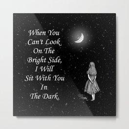 Alice in Wonderland Starry Night Quote Metal Print