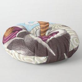 Fantasy1- Organic forms Floor Pillow
