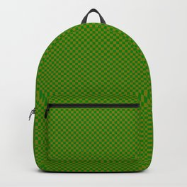 Dark green and mustard squares Backpack