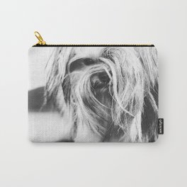 Coiffure - Yorkie - Black and White Carry-All Pouch