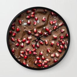Chocolate Pomegranate Wall Clock