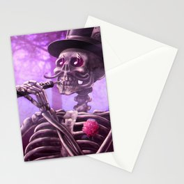 """""""Move your body!"""" - The musician skeleton Stationery Cards"""