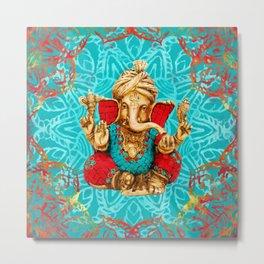 Lord Ganesha  - Mixed Media Metal Print