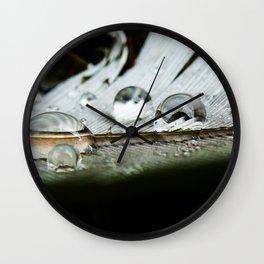 druppels op veer Wall Clock