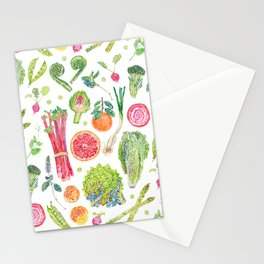 Spring Harvest Pattern White Stationery Cards